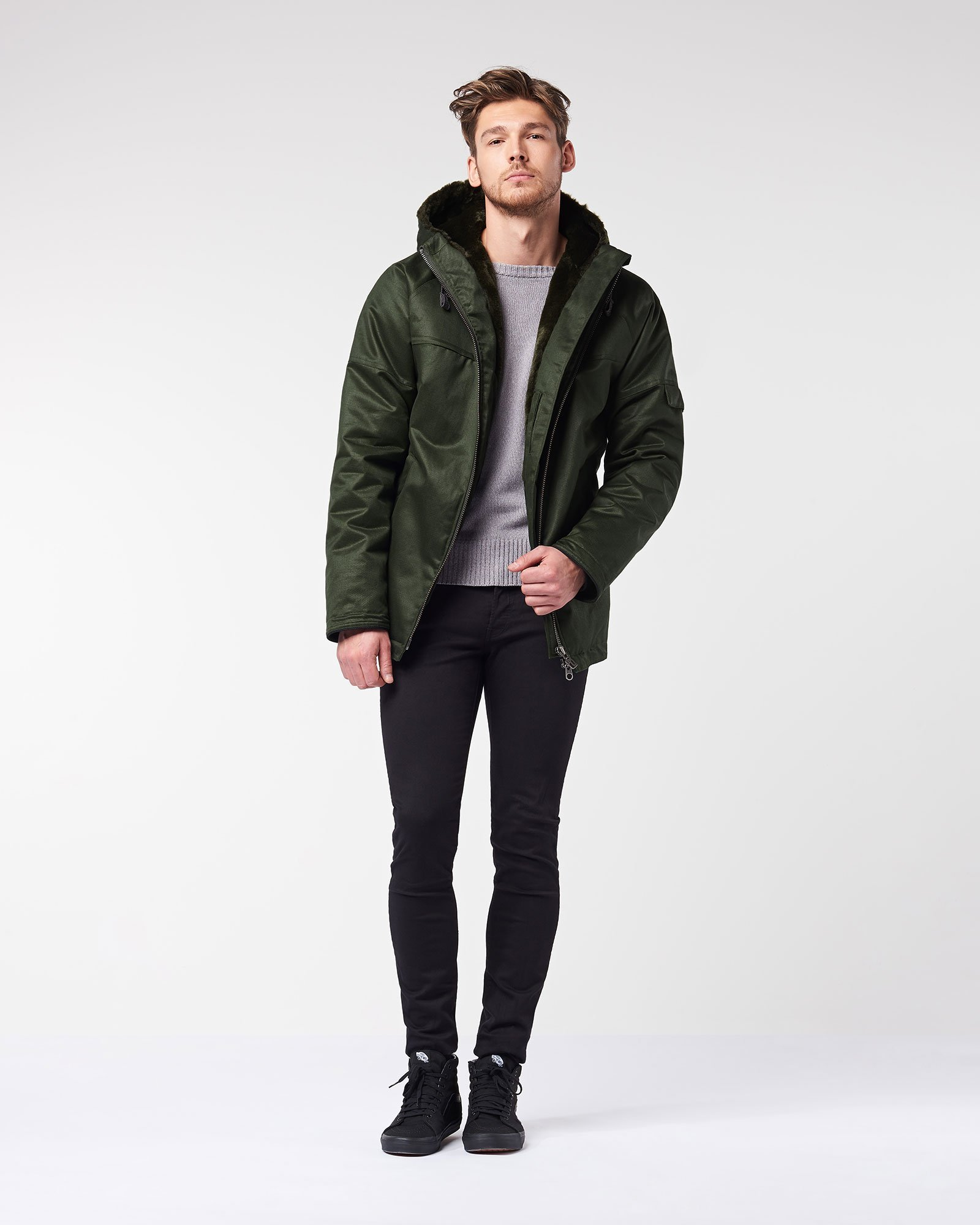 943536d1a048 Men s Classic Hoodlamb in Deep Army Green (FW18) by Hoodlamb ...