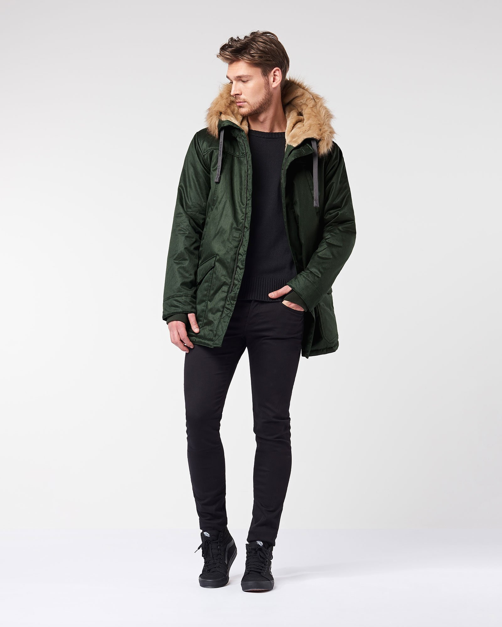 e9996fbdc242 Men s Nordic Parka in Deep Army Green (FW18) by Hoodlamb - Official ...